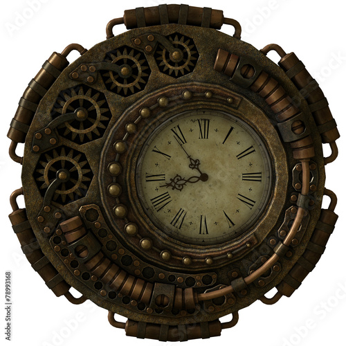 Steampunk Clock, 3d CG - 78993168