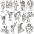 Angels - hand drawn full sized illustrations, originals - 78993510
