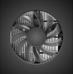 Fan with heatsink