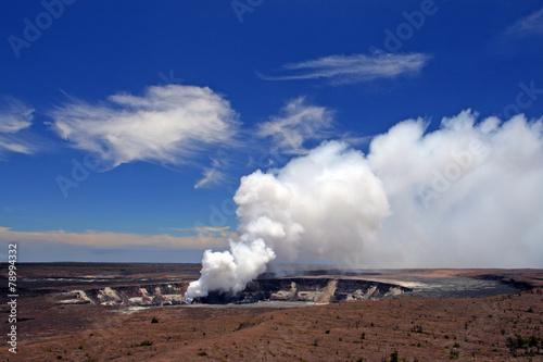 Aluminium Vulkaan Hawaii Volcanoes National Park, USA..