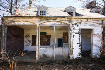 Old Abandoned home in disrepair