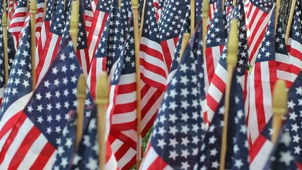 American Flag Decorations on Memorial Day