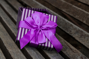 semi-open box purple