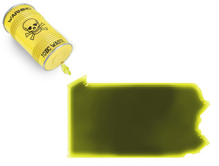 Toxic waste in the shape of Pennsylvania (series)
