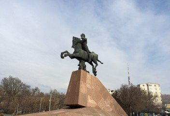 The statue of Vardan Mamikonian in Yerevan.