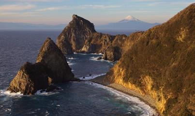 Mountain Fuji and sea from Izu city Shizuoka