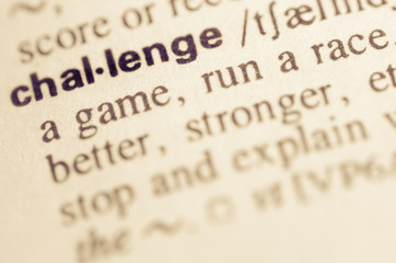 Dictionary definition of word challenge