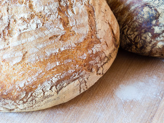 Round french boule bread