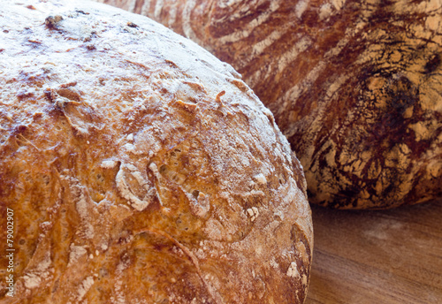 Fotobehang Brood Round french boule bread