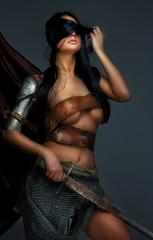 Beautiful woman with sword