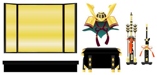 兜飾り(金、部品)
