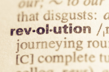 Dictionary definition of word revolution