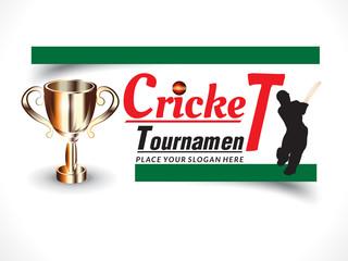 cricket banner background with batsman