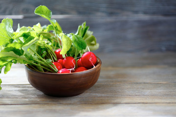 Radishes in a bowl