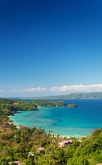 boracay island tropical landscape in philippines