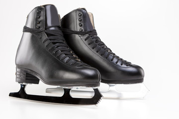 Figure skating Concept: Professional Mens Figure Skates Isolated