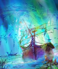 難破船 - Shipwreck(ファンタジー風)