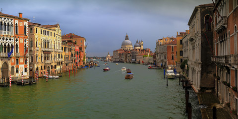 Venice, Italy - Grand Canal and historic tenements