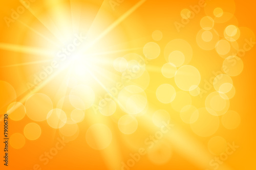 Nature sunny abstract summer background with sun - 79006730