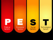 PEST Analysis Strategy Diagram, business concept