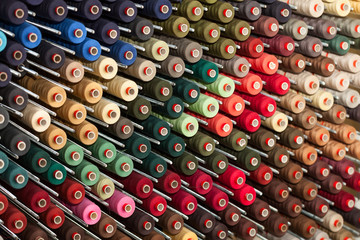 Reels with colorful threads
