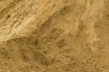 Sand in a quarry