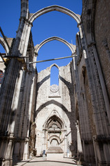 Igreja do Carmo Church Ruins in Lisbon