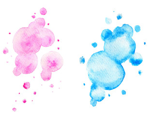 Pink and blue watercolor backgrounds