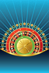 Abstract gambling background with roulette
