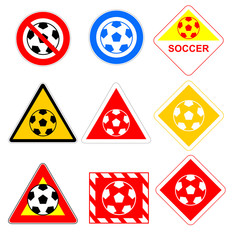 Soccer ball signs