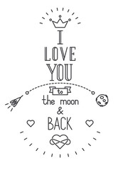 Vector quote about love