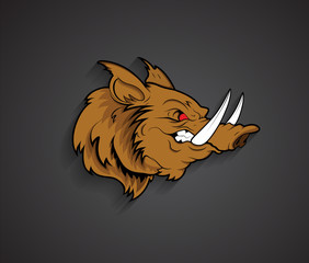 Angry Werewolf Face Mascot
