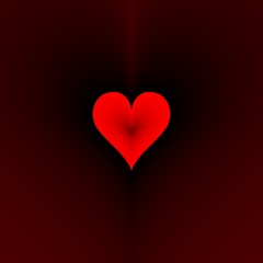 Red heart. Frame for stop motion animation. Number ten.