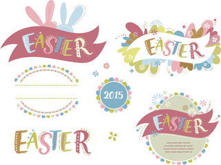 Happy easter - set of elements