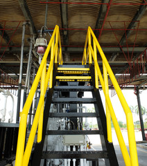 Yellow and Black Stair to Fire Hydrant in Fuel Terminal Thailand