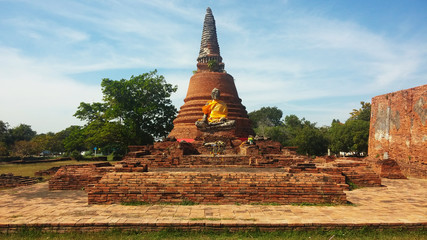 Ancient temple in Ayutthaya, Thailand