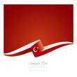 New abstract Turkey flag ribbon
