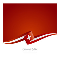 New abstract Swiss flag ribbon
