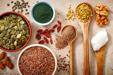 various kinds of superfoods