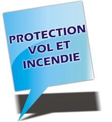 bouton PROTECTION VOL ET INCENDIE