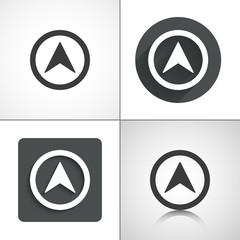 Pointer, arrow icons. Set elements for design.