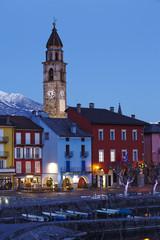 Ascona (Schweiz) - Bucht in der Abenddämmerung
