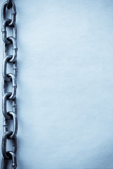 chain and old vintage paper