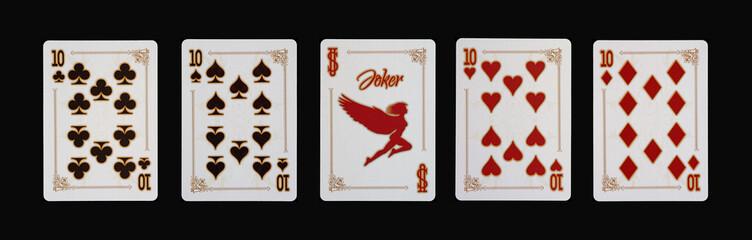 Spielkarten - Poker - Zehner Vierlinge im Speil