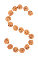 Letters made of Oatmeal cookies