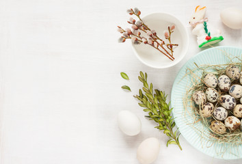 Easter background layout with free text space