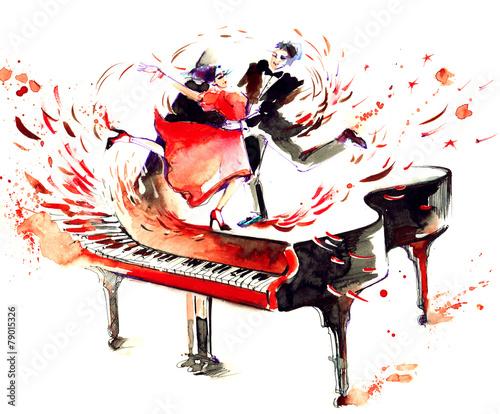 Fototapety, obrazy : music