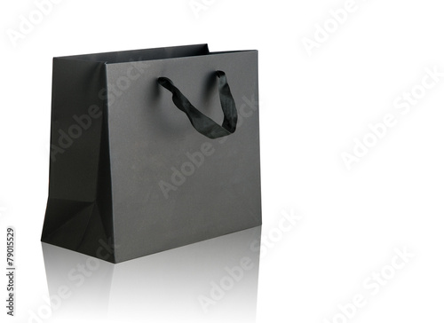 Black shopping bag. - 79015529