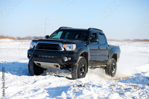 Winter truck ride - 79015708