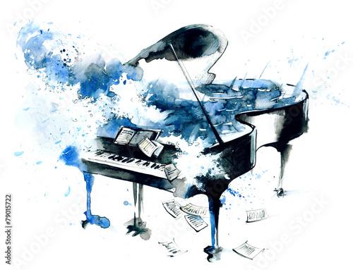 Leinwanddruck Bild piano